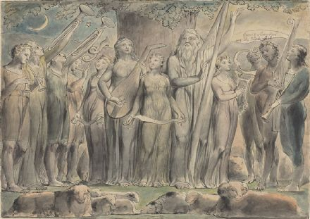 Blake, William: Job and His Family Restored to Prosperity. Fine Art Print.  (003550)
